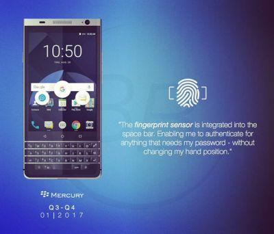 BlackBerry Mercury expected to launch at CES 2017
