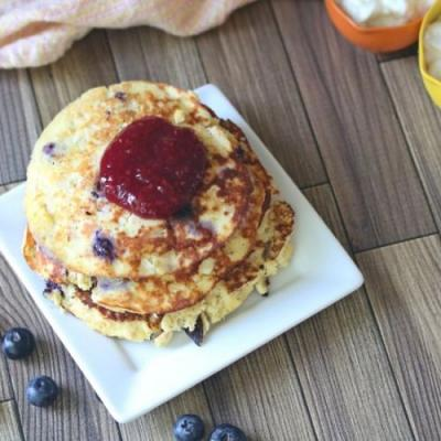 High Protein Cheesecake Pancakes-GF