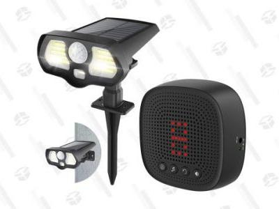 Add Extra Visibility and Security To Your Driveway for 50% off With This Motion-Activated, Solar-Powered Alert and Led Light System