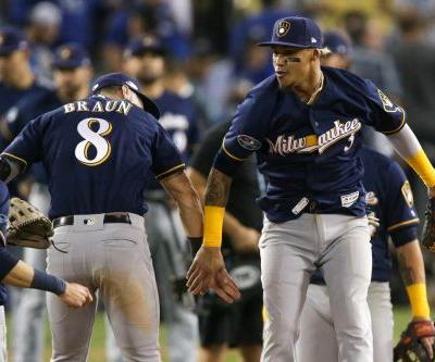 Brewers take NLCS lead with third playoff shutout in L.A