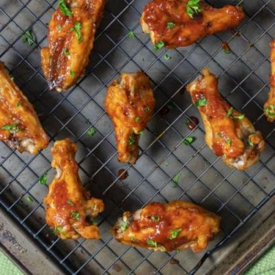 Honey Chipotle Baked Chicken Wings