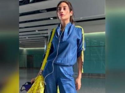 Nusrat Jahan is stunning as always in Rs 10k co-ord outfit at airport on way to London. See pics