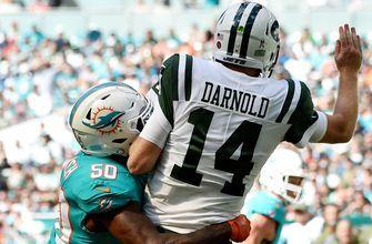 Dolphins pick Sam Darnold 4 times in 13-6 win over Jets, improve to 5-4