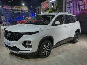 MG Hector Plus Unveiled At Auto Expo 2020: Detailed Image Gallery
