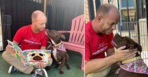 "Dedicated Rescuer ""Shacks Up"" With Shelter Dog To Help Her Find A Home"