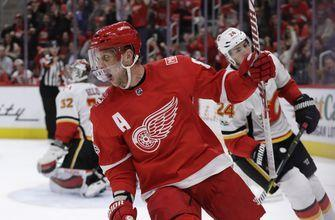 Red Wings rout Flames 8-2 in win over Flames