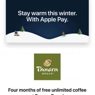 Apple Pay Promo Offers Four Months of Free Coffee From Panera Bread