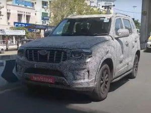 2021 Mahindra Scorpio Spotted With Rear Disc Brakes And Dual-beam LED Headlamps