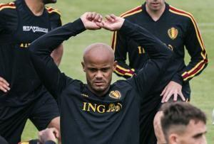 Belgium keeps Vincent Kompany on roster for World Cup