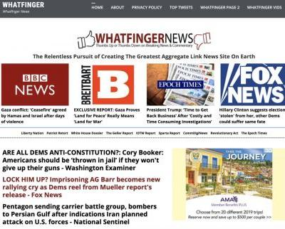 Is Whatfinger News the next Drudge Report? More news and more liberty WITHOUT all the Drudge attacks on nutrition and natural medicine