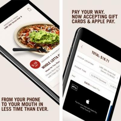 Chipotle's All-New Order-Ahead App Launches With Support for Apple Pay
