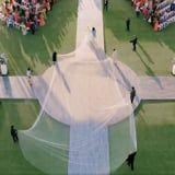 Priyanka Chopra's 75-Foot Long Wedding Veil Is Being Compared to a CVS Receipt, and OMG