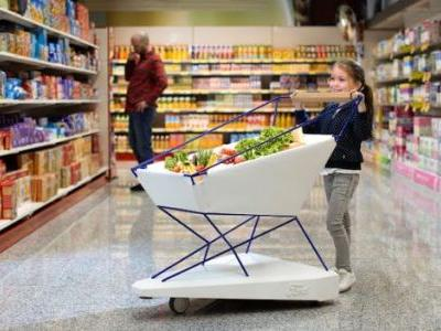 Ford's 'Self-Braking Trolley' Takes the Stress Out of Grocery Shopping