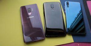 OnePlus 6 versus Samsung Galaxy S9+, LG G7 ThinQ and Huawei P20 Pro