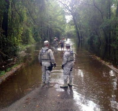 More than 10,000 US service members sprang into action after Florence hit - these military photos show them in the thick of it