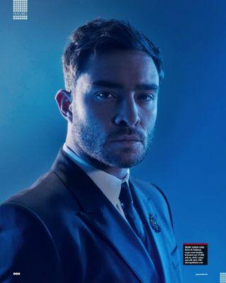 Ed Westwick in Dolce&Gabbana for Square Mile May