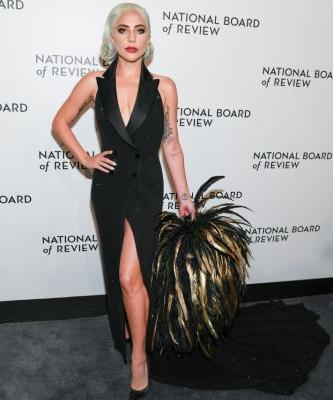 Lady Gaga's Feather Clutch Is Bigger Than My Head