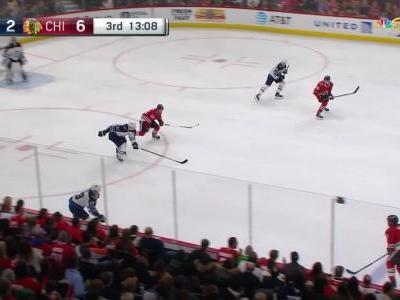 Accountant plays goalie for Chicago Blackhawks, stops all seven shots he faces