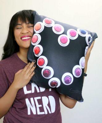 ConnorClaire Product Spotlight: Lipstick All Night Throw Pillow