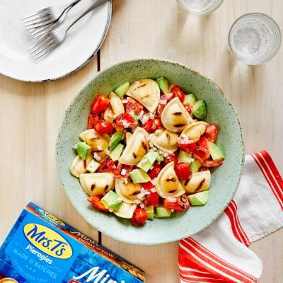 SPONSORED POST: Recipe: 2 Simple Summer Salads That Start with Grilled Mini Pierogies