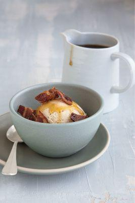 Bourbon Ice Cream with Candied Bacon