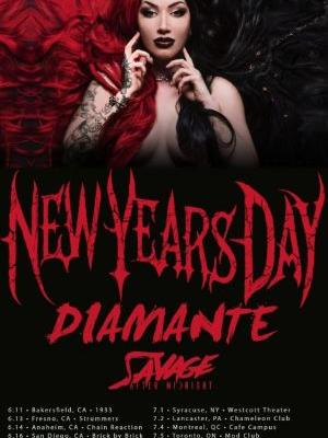 NEW YEARS DAY Announces 2019 'Unbreakable' North American Headlining Tour