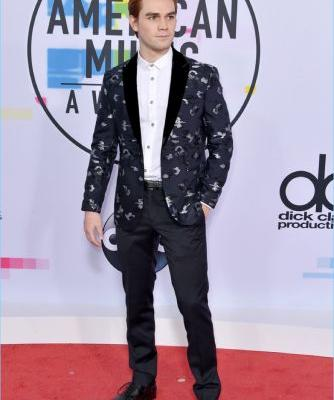 KJ Apa & Shawn Mendes Wear Emporio Armani for 2017 American Music Awards