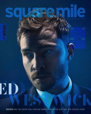 Ed Westwick in Dolce&Gabbana on the cover of Square Mile May