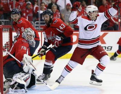 Hurricanes stun Capitals in double overtime, knock out defending champions