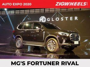 MG Gloster 7-Seater SUV Revealed In India At Auto Expo 2020 Rivals Toyota Fortuner And Ford Endeavour