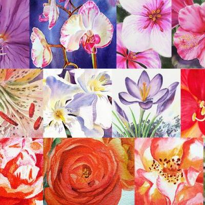 Watercolor Flowers Close Up - Flowers To Art Inspiration