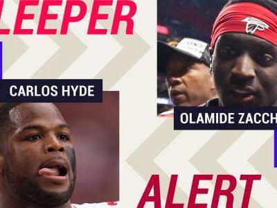 Week 4 Fantasy Sleepers: Injuries to Chris Carson, Julio Jones make Carlos Hyde, Olamide Zaccheaus potential starters