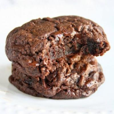 Fudgy chocolate brownie cookies