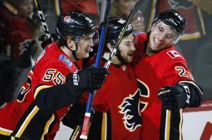 Tkachuk's 1st hat trick leads Flames past Golden Knights 6-3