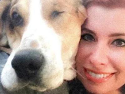 Woman's adopted hound dog sniffs out skin cancer, saving her life