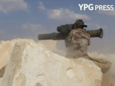 US-backed Kurds release another video of their forces striking a Turkish vehicle