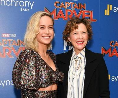 Annette Bening's time on 'Captain Marvel' set was very different than Brie Larson's