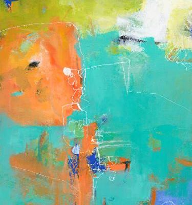 "Abstract Art, Expressionism, Contemporary Painting ""Serendipity"" by Contemporary Artist Maggie Demarco"