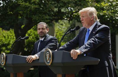 3 very strange moments during Trump's press conference with the Lebanese prime minister