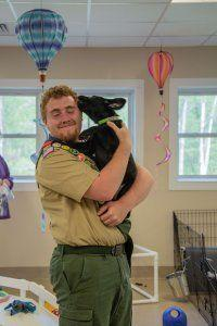 Eagle Scout Ray Schmidt Gives Puppy Socialization a Hand-Crafted Touch
