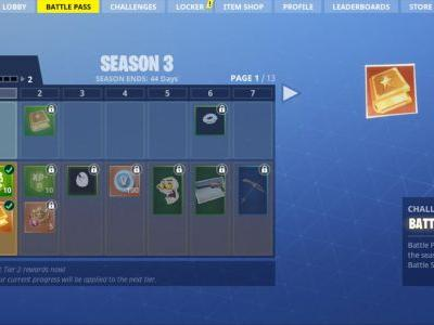 Fortnite's Season 3 Battle Pass is space-themed, has 100 tiers