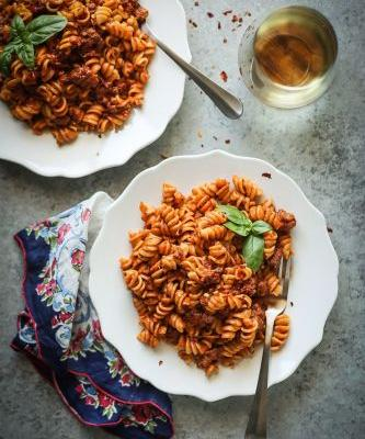 Instant Pot Meat Sauce and Pasta