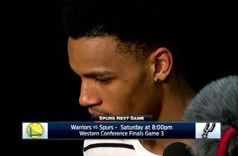 Dejounte Murray on falling behind 0-2 to Golden State