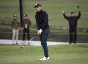 Thomas, Scott share lead at rain-delayed Riviera