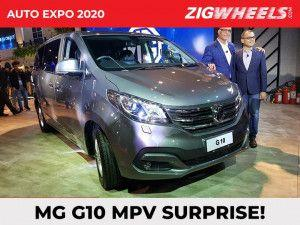 MG G10 MPV Unveiled In India At Auto Expo 2020 To Rival Kia Carnival And Toyota Innova Crysta