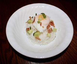 Poached Egg Over Rice
