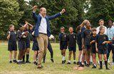 Prince William Doesn't Let His Khaki Pants Stop Him From Playing Soccer With Kids