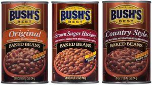 Bush Beans announces Recall of canned Baked Beans for Defective Cans