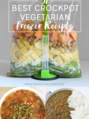 31 Best Vegetarian Crockpot Freezer Recipes