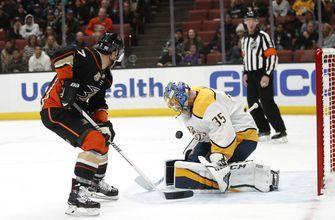 Anaheim wins in shootout to deal Nashville first road loss